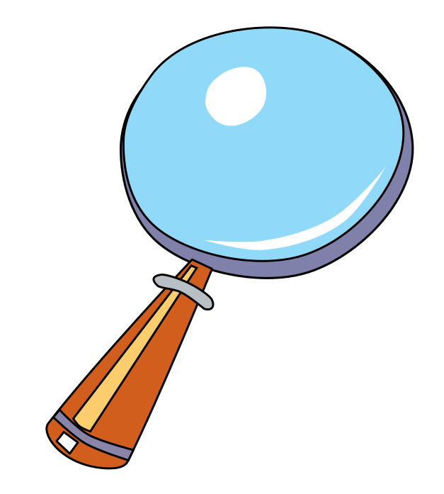 627x697 Free Cartoon Magnifying Glass Clip Art