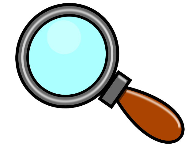 640x480 Magnifying Glass Clipart Black And White Free