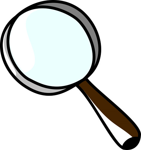 471x500 Magnifying Glass Clipart Transparent Background
