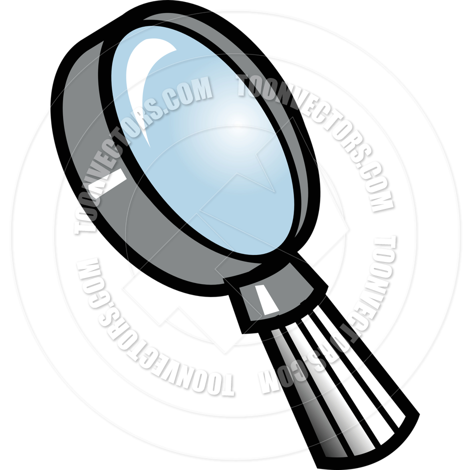 940x940 Cartoon Magnifying Glass Vector Illustration By Clip Art Guy
