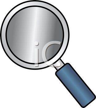 312x350 Cartoon Style Magnifying Glass