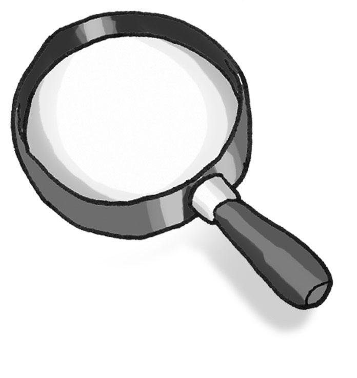 696x737 Cartoon Magnifying Glass Clipart Clipart Kid