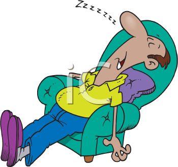 350x329 Man Sleeping In His Favorite Chair Wearing Slippers