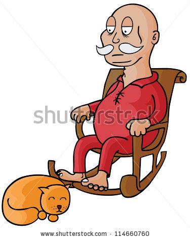 375x470 Sleeping Clipart Old Man