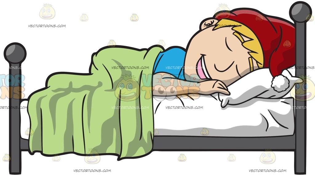 1024x570 A Man Sleeping In On Christmas Day Cartoon Clipart