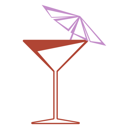 Cartoon Martini Glass
