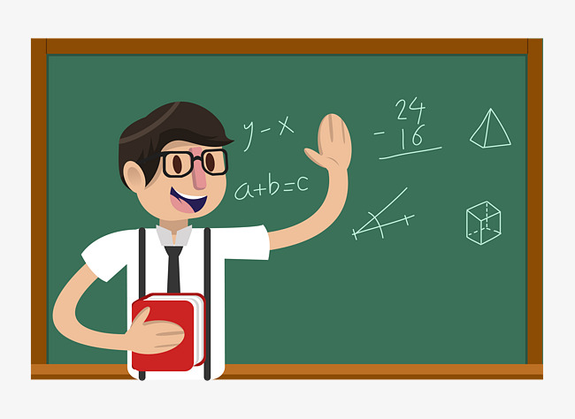 650x474 Cartoon Math Male Teacher, Cartoon Male Teacher, Teacher, Male