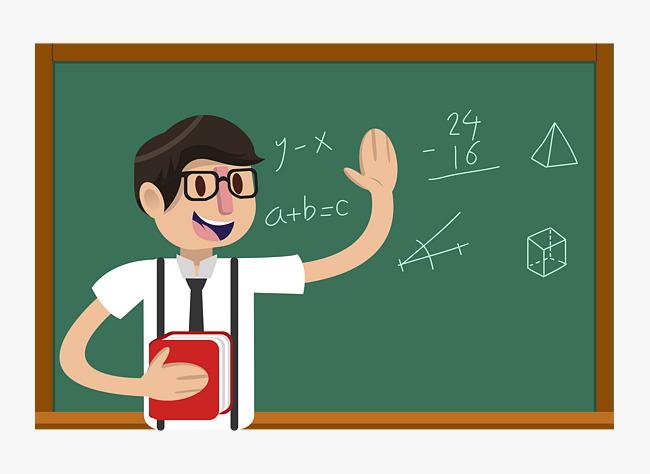 650x474 Cartoon Math Male Teacher, Cartoon Male Teacher, Teacher, Male