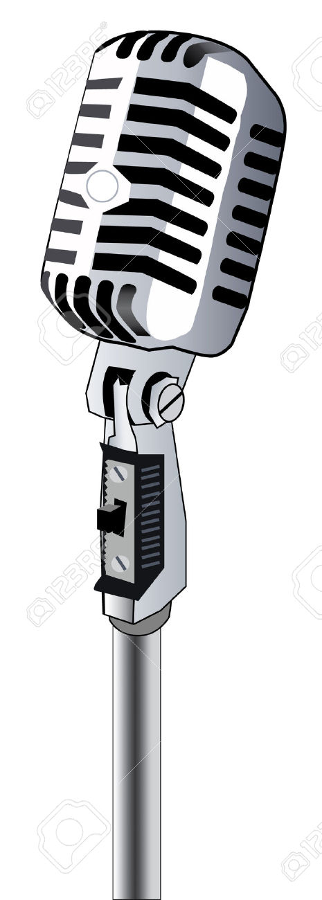 465x1300 Microphone Clipart Retro Microphone