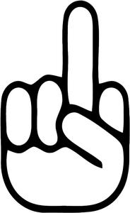 184x300 Clipart Middle Finger