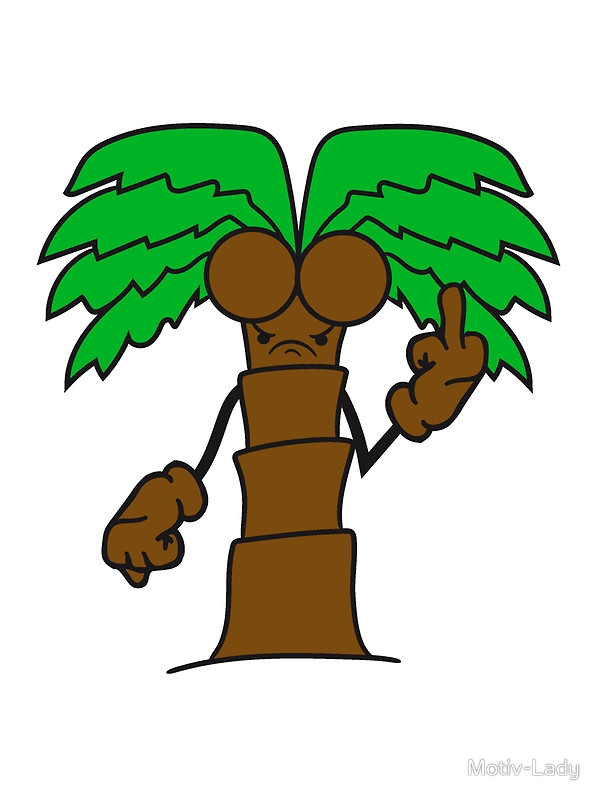 600x800 Comic Cartoon Palm Small Sweet Cute Coconuts Evil Stinkefinger