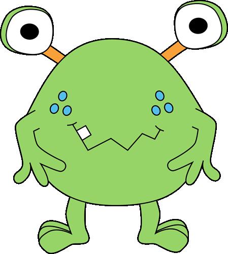 449x500 Free Cute Monster Clip Art Two Eyed Green Monster Clip Art Image