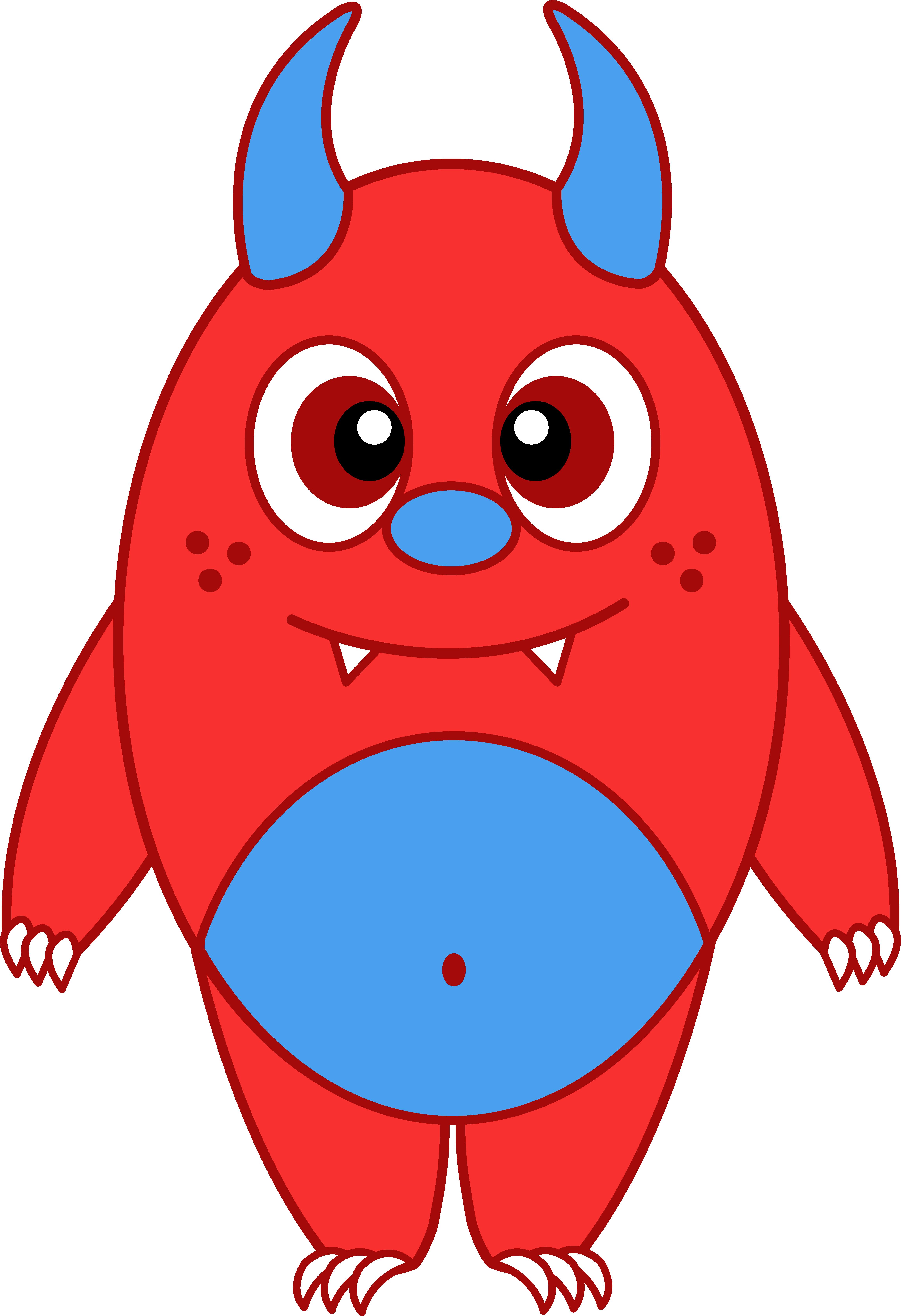 4611x6729 Little Monster Clipart