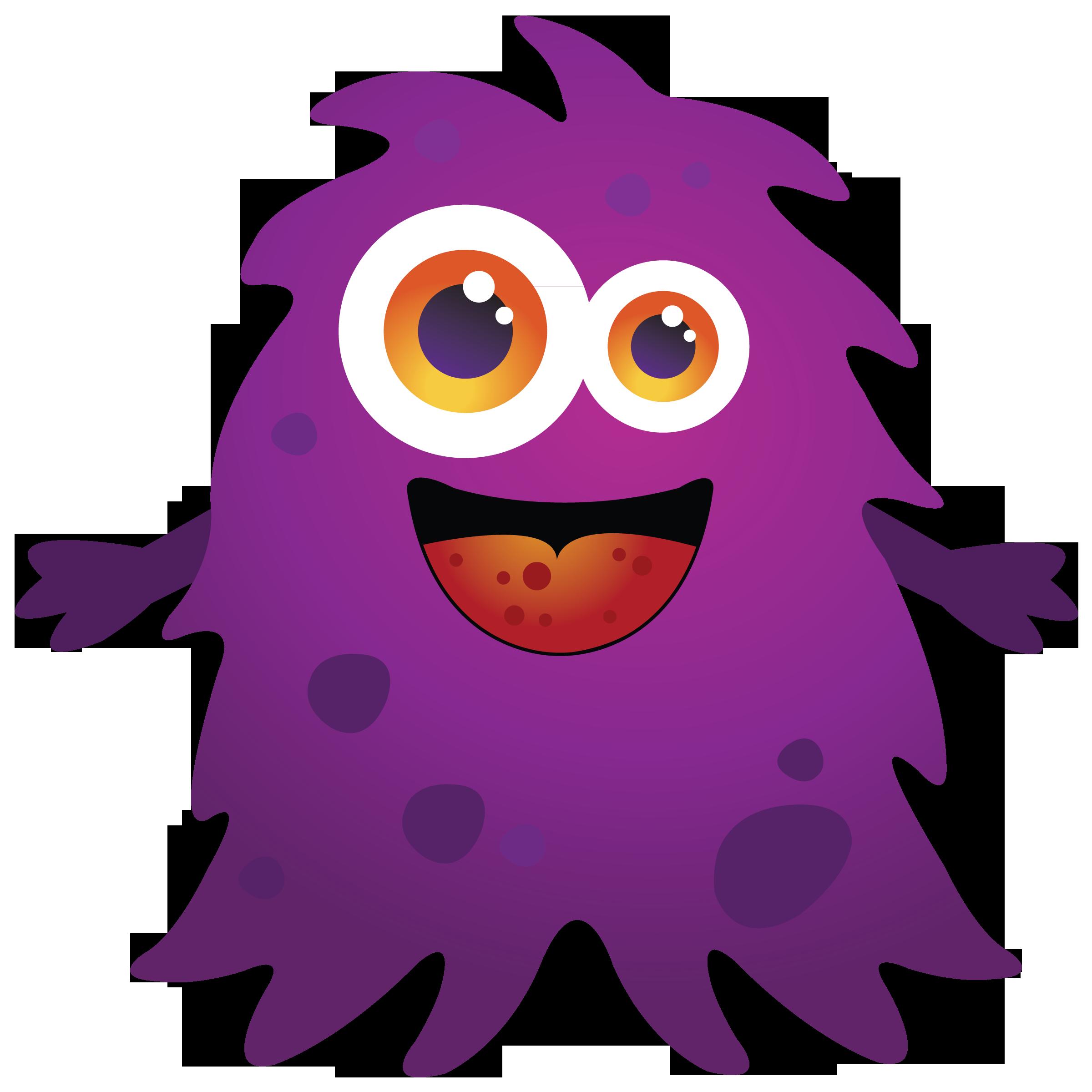 2400x2400 Purple Cartoon Monster Clipart Free Clip Art Images Kid