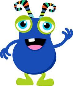 236x278 Your Free Art Cute Blue, Purple And Green Cartoon Alien Monsters