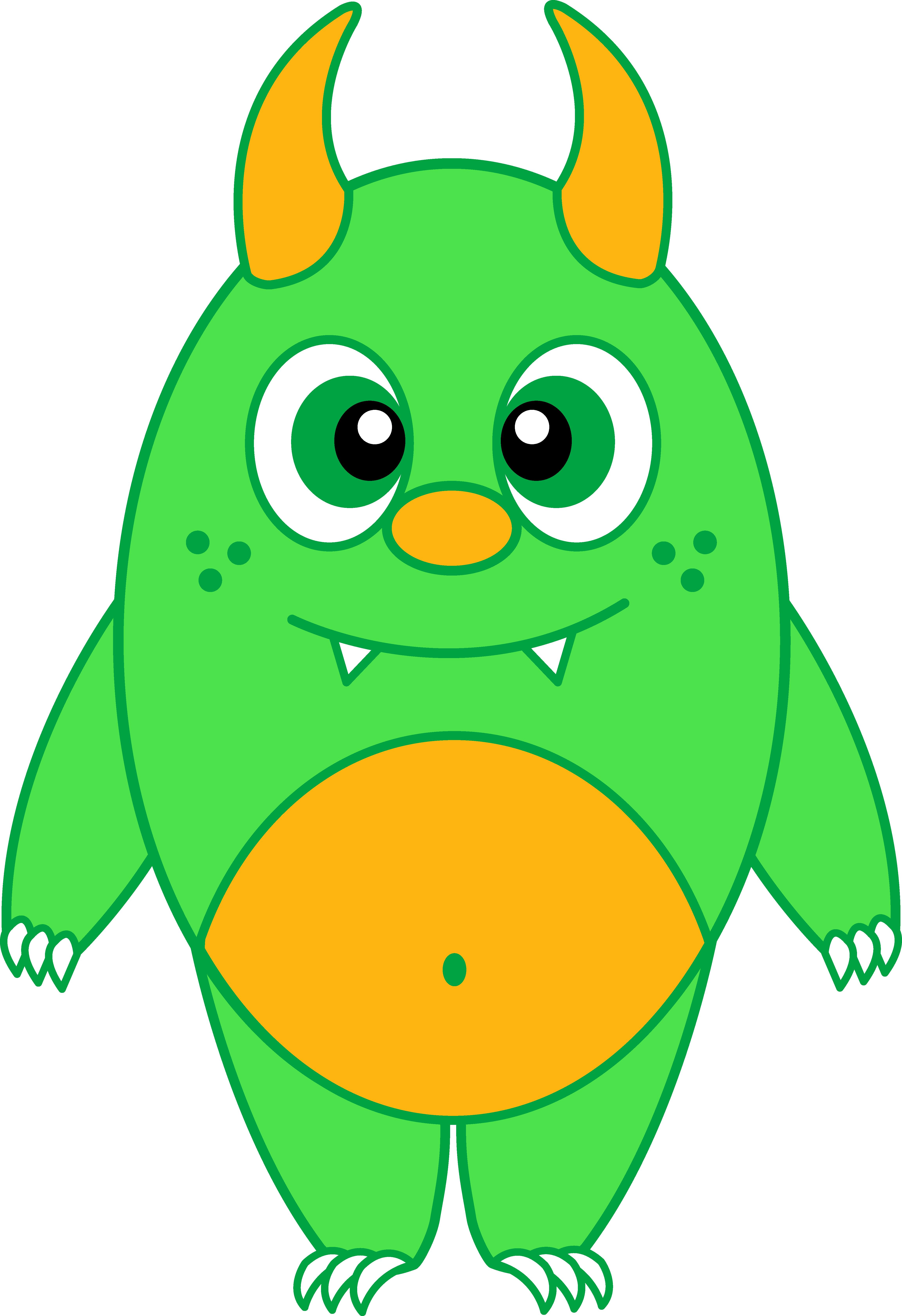 4611x6727 Cartoon Monsters Clipart