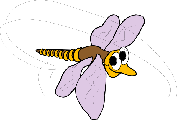 600x408 Happy Mosquito Clip Art