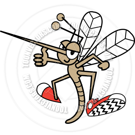 460x460 Cartoon Mosquito Vector Illustration By Clip Art Guy Toon