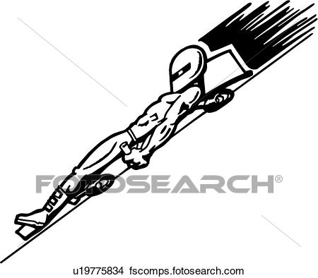 450x394 Clipart Of , Action, Cartoon, Extreme, Mountain Racer, Sport