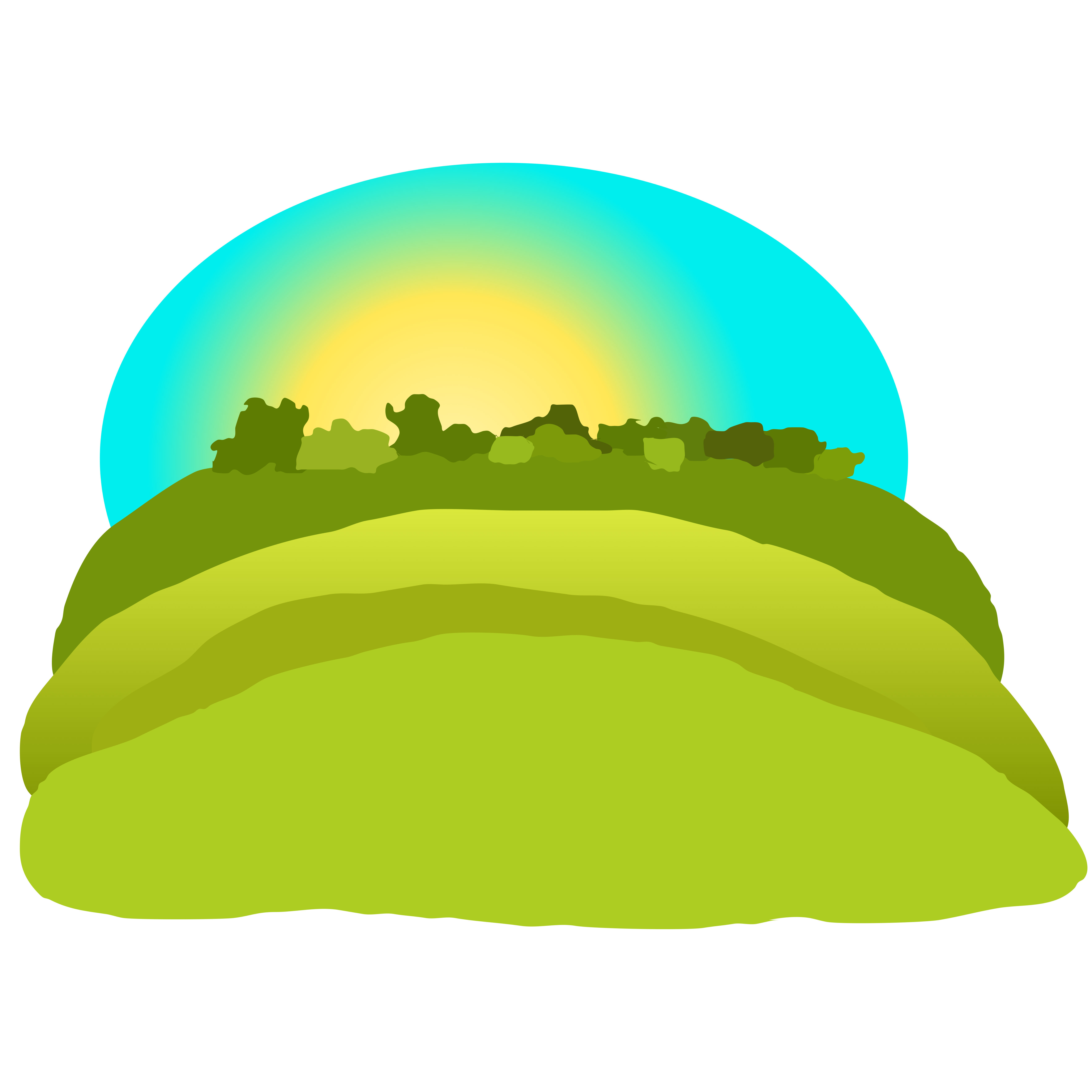 5204x5204 Free Green Mountain Clipart Image