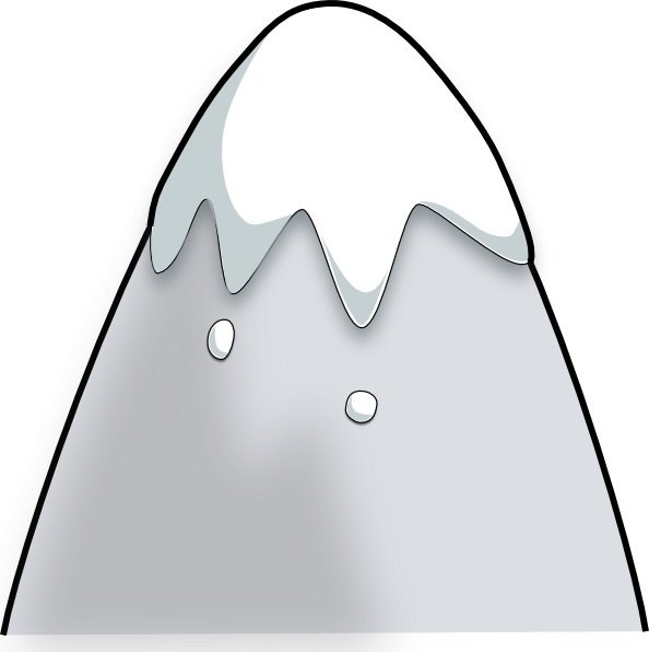 594x596 Kliponius Mountain In A Cartoon Style Clip Art Free Vector In Open
