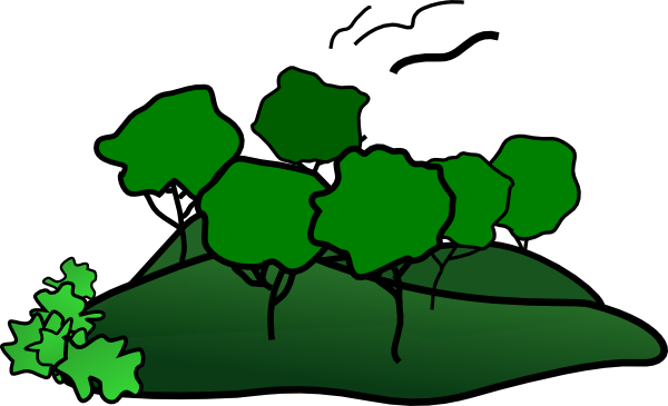 600x365 Landscape Mountain Trees Clip Art
