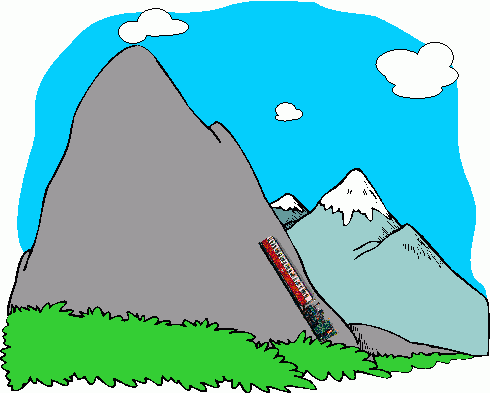 490x393 Mountain Ridge Clipart Cartoon