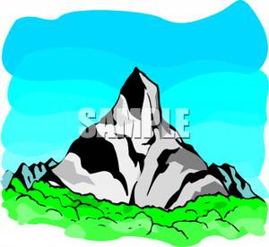 300x276 Tall Mountain Clipart