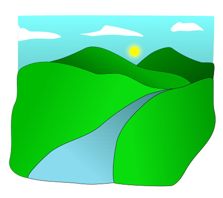 450x400 Valley Clipart Cartoon