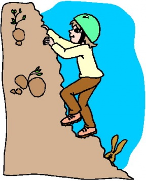 288x357 Cartoon Mountain Climber Clipart