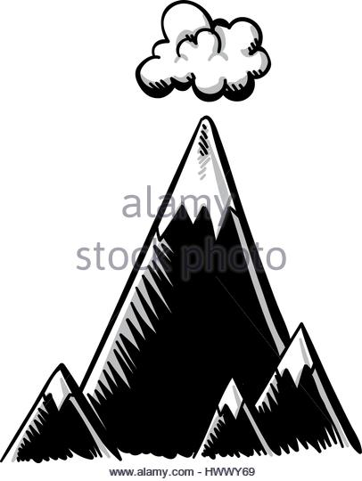 406x540 Cartoon Mountain Range Stock Photos Amp Cartoon Mountain Range Stock