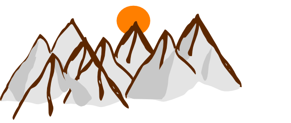600x254 Cartoon Mountain Range