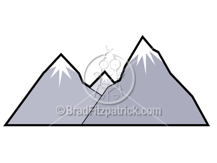 432x324 Cartoon Mountains Clipart 2148237