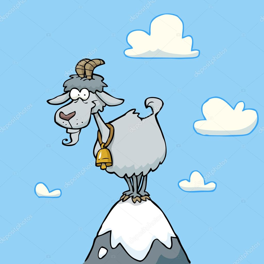 1024x1024 Cartoon Mountain Goat Stock Vector Dedmazay
