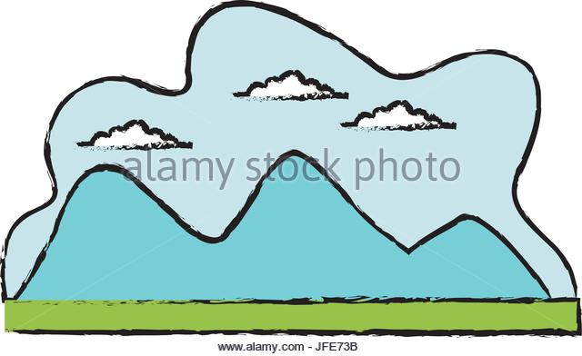 640x392 Blue Mountain Cartoon Vector Stock Photos Amp Blue Mountain Cartoon