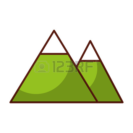 450x450 Shadow Brown Mountain Cartoon Vector Graphic Design Royalty Free