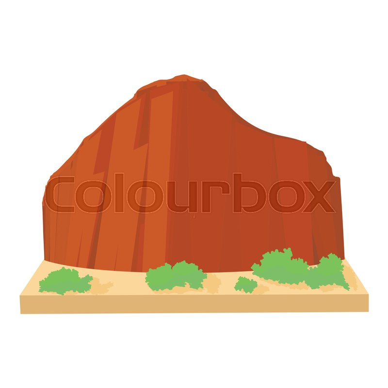 800x800 Brazil Mountain Icon. Cartoon Illustration Of Brazil Mountain