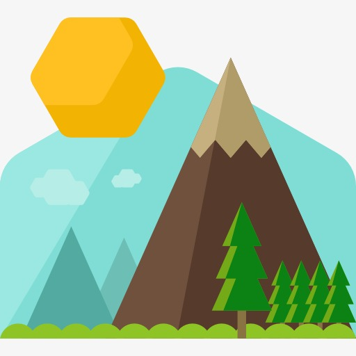 512x512 Mountain, Cartoon, Mountain Peak, Iceberg Png Image For Free Download