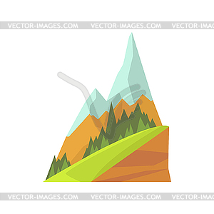 300x300 Mountain Landscape With Two Snowy Peaks,