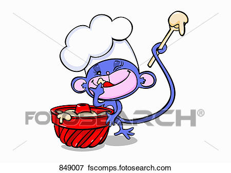 450x337 Clip Art Of A Cartoon Mouse Tasting Baking Ingredients 849007
