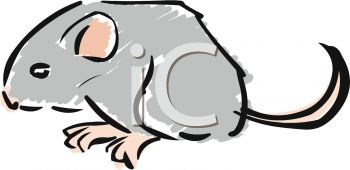 350x170 Picture Of A Cute Cartoon Mouse On A White Background In A Vector