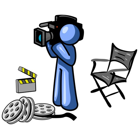 480x480 Cartoon Movie Camera Clip Art Free Vector In Open Office Drawing