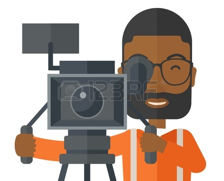 450x364 Cute Cartoon A Cameraman Royalty Free Cliparts, Vectors, And Stock