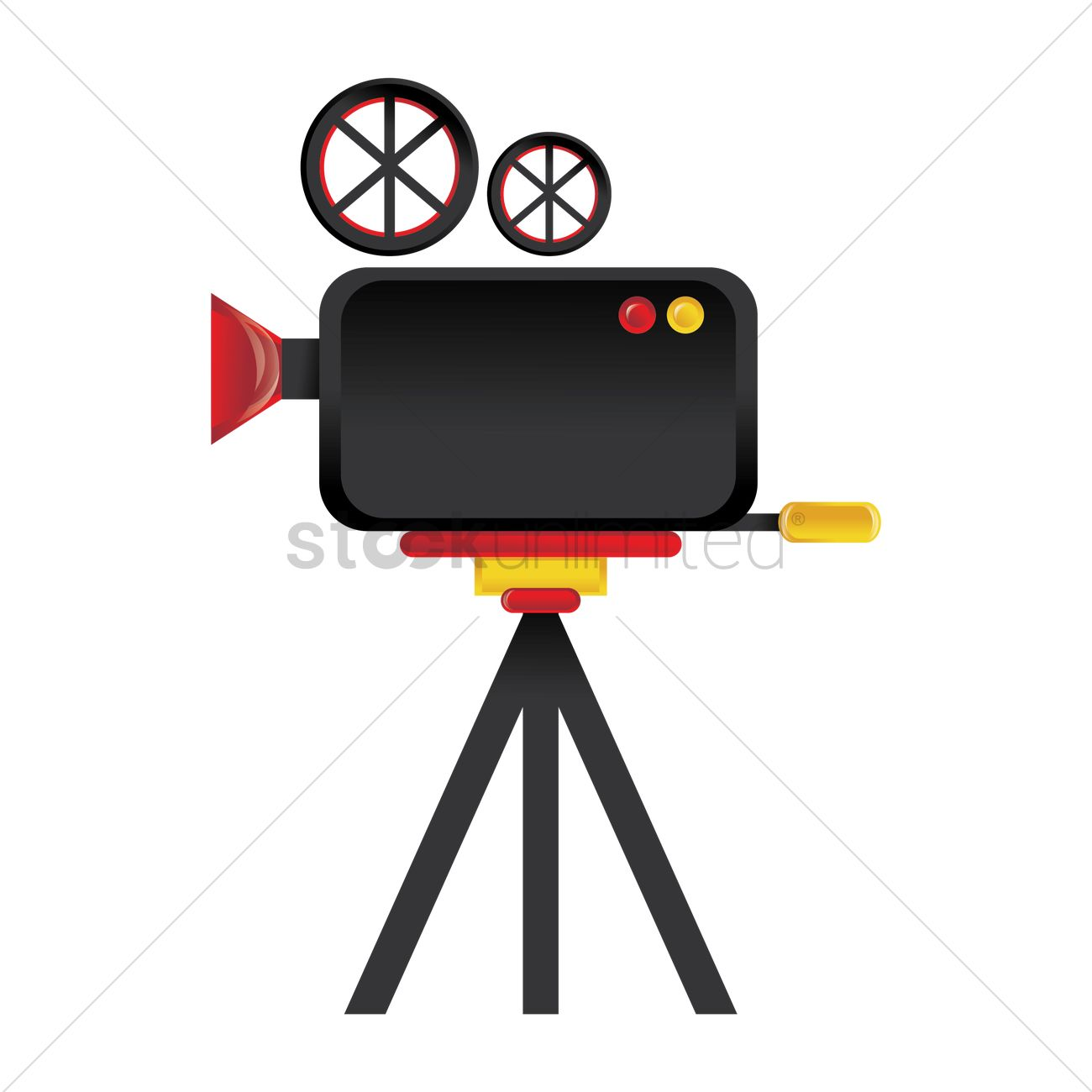 1300x1300 Movie Film Camera Vector Image