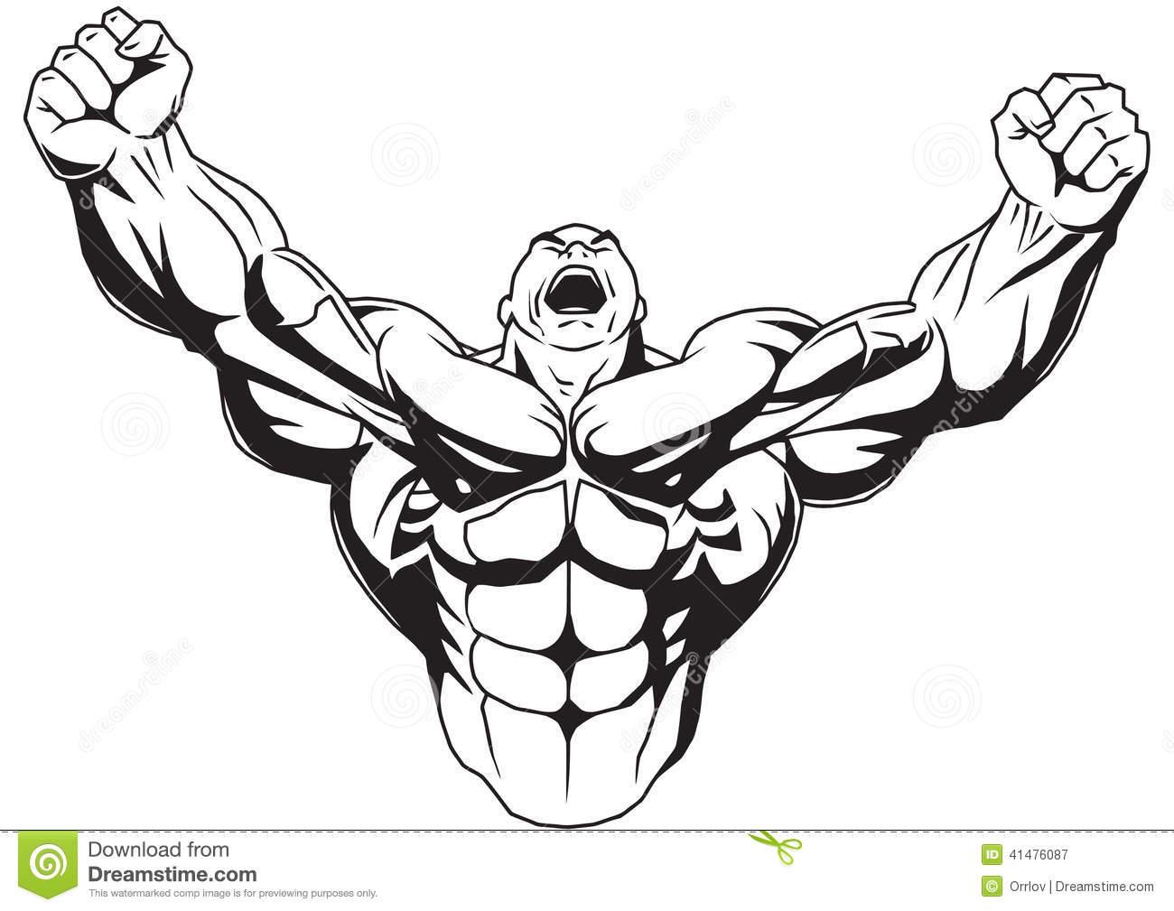 1300x1009 Men Clipart Bodybuilder