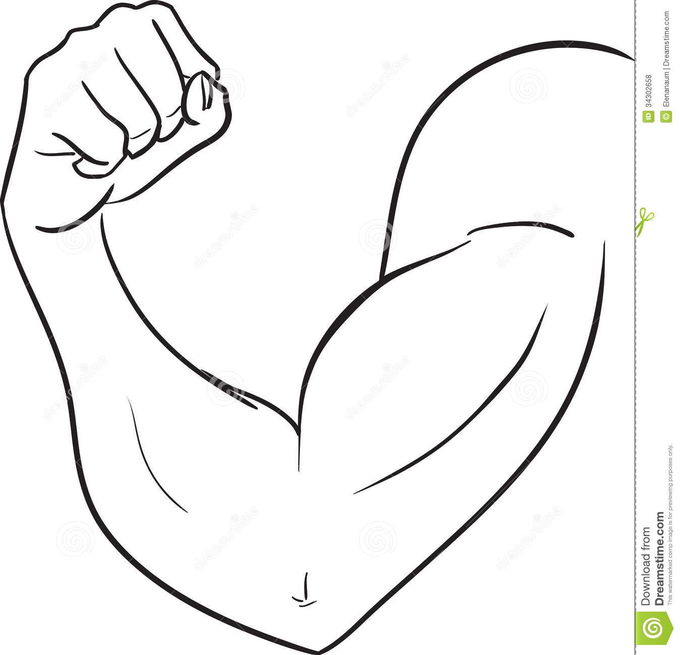 1349x1300 Cartoon Muscle Arm Clipart