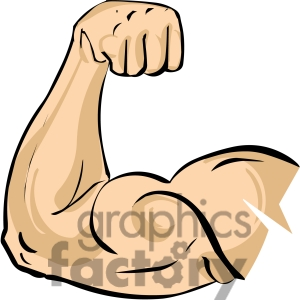 300x300 Cartoon Muscle Arm Clipart