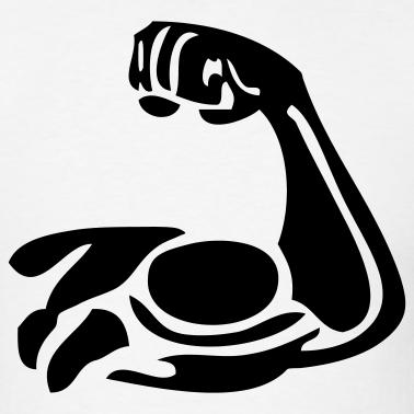 378x378 Cartoon Muscle Arm Clipart