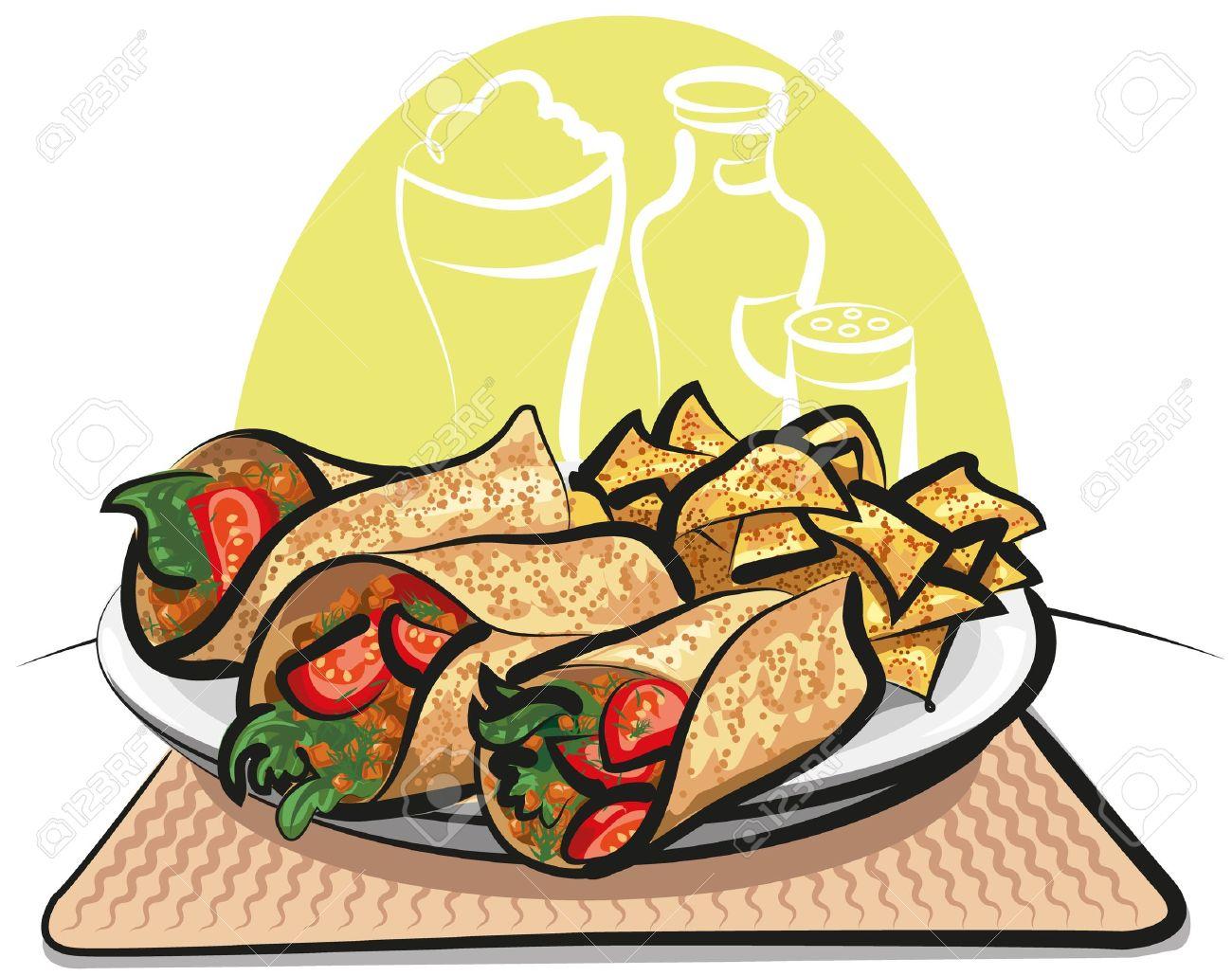 1300x1030 Fish Taco Clipart Nacho