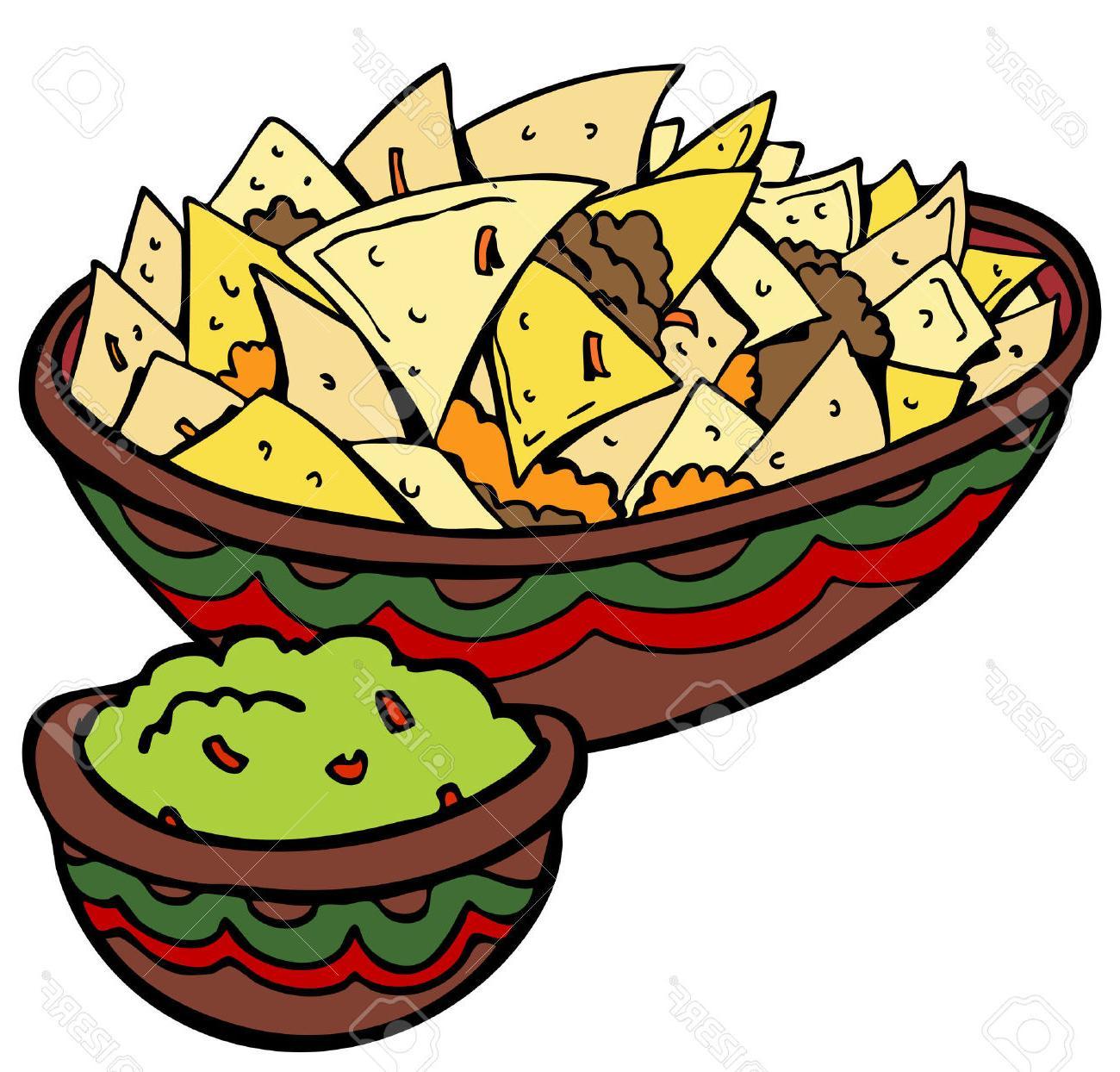 1300x1244 Hd Nachos Tortilla Chips Stock Vector Mexican Cartoon Drawing